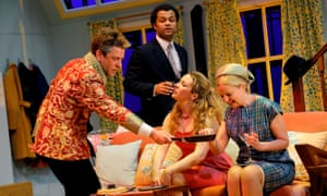 Breezily welcome comedy … Hamish Clark, Olivier Huband, Jessica Hardwick and Clare Grogan in Barefoot in the Park.