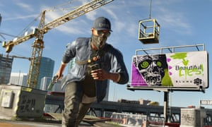 black protagonist Marcus Holloway in Watch Dogs 2.