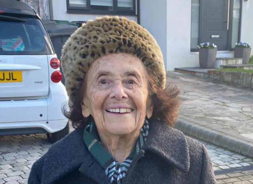 Auschwitz survivor, Lily Ebert, has just recovered from Covid- 19 and on Thursday went on her first walk in a month.