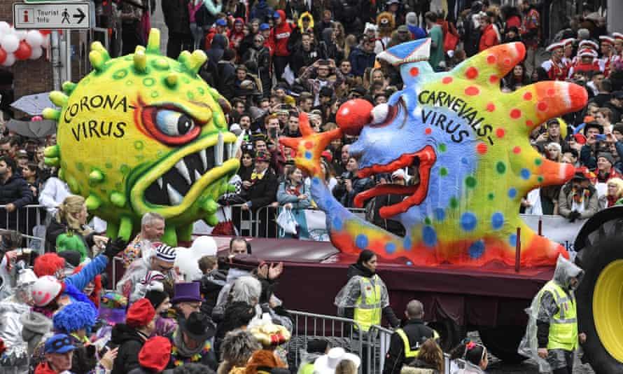 A carnival parade in Düsseldorf in February