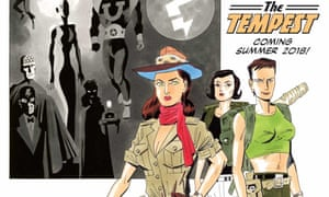 Promotion for the final instalment of Alan Moore and Kevin O'Neill's The League of Extraordinary Gentlemen: The Tempest