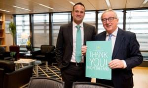 Jean-Claude Juncker and Leo Varadkar