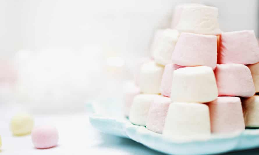 A stack of marshmallows