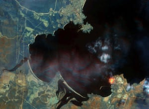 New South Wales, AustraliaA Satellite image shows fires near Eden, New South Wales.