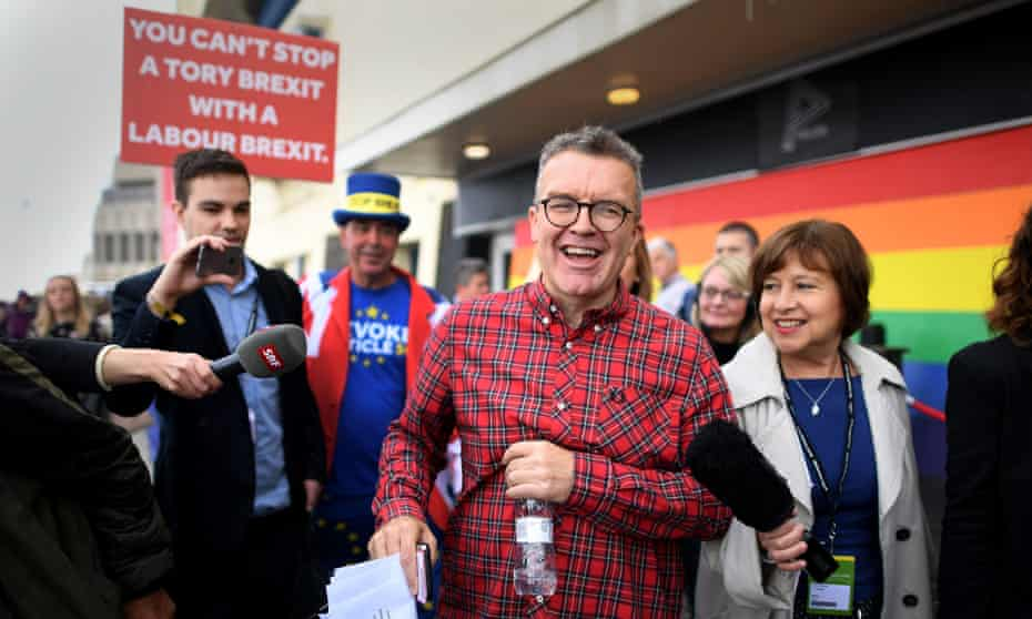 Democratically elected … Tom Watson outside the conference.