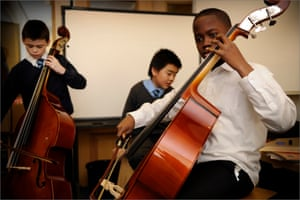 Music education … skills help improve general learning and mental skills.