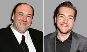 Sopranos star James Gandolfini (left) and his son Michael.