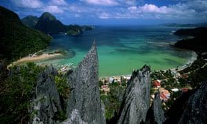 El Nido bay and mountains, Palawan island