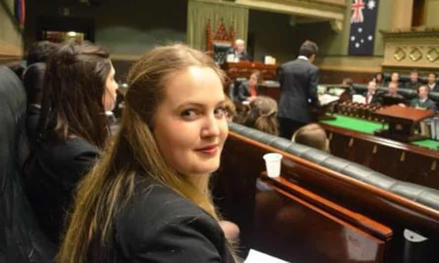 Former Morrison government staffer Josie Coles in Old Parliament House in Canberra