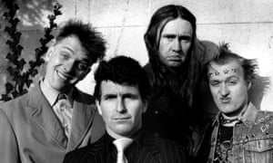 Nigel Planer, second right, in The Young Ones