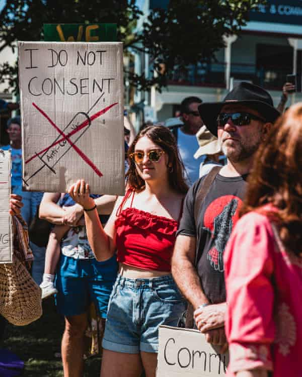 The 'Freedom Day' rally in Byron Bay last weekend