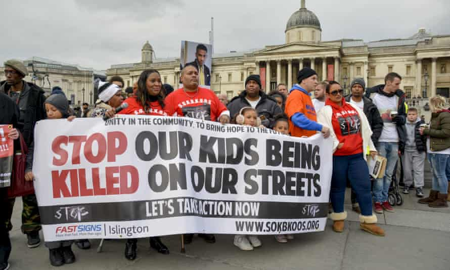 Activists from Stop Our Kids Being Killed On Our Streets