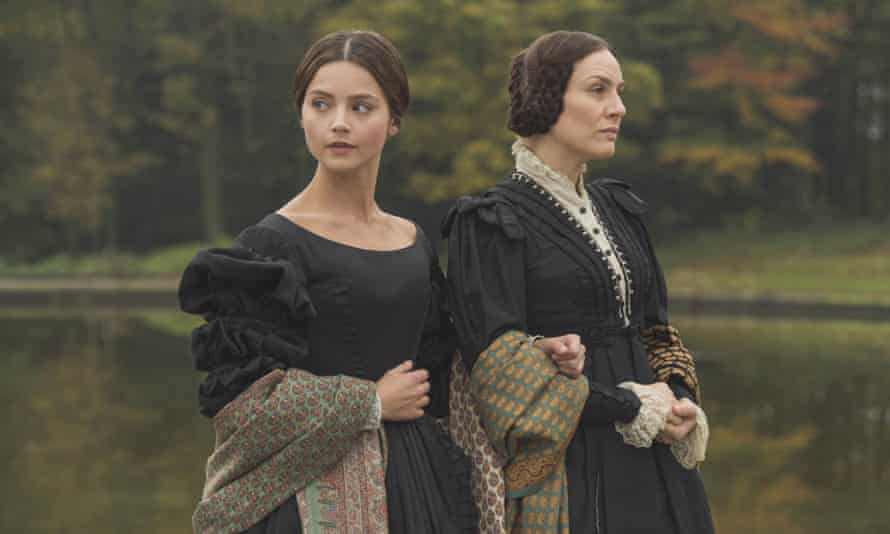 Jenna Coleman as Victoria and Daniela Holtz as Baroness Lehzan in Victoria.