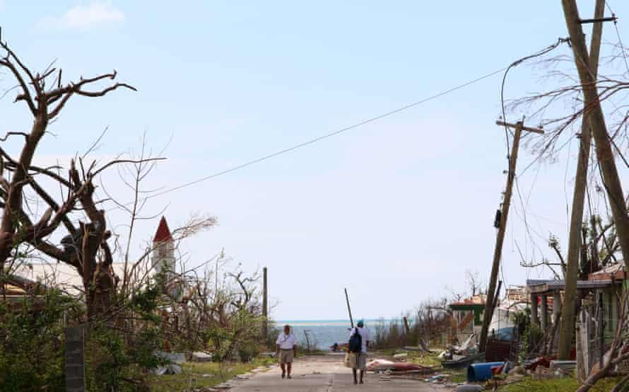 Barbuda's Codrington lagoon after Hurricane Irma