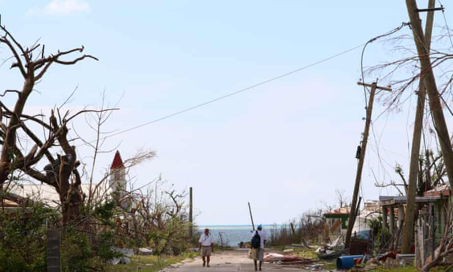 Damage to the island of Barbuda after Hurricane Irma.