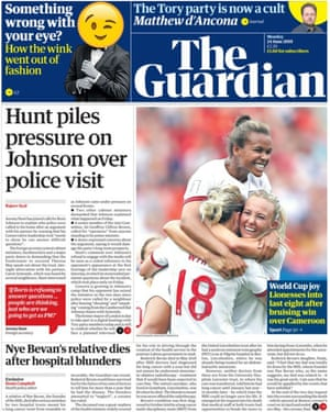 The guardian front page 24 june 2019