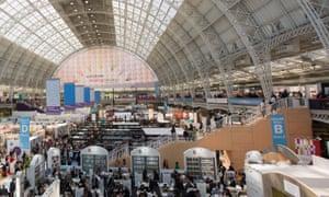 the 2015 London book fair at Olympia.