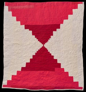 Bricklayer or Courthouse Steps quilt by Creola Bennett Pettway Gee's Bend, Alabama, c1955