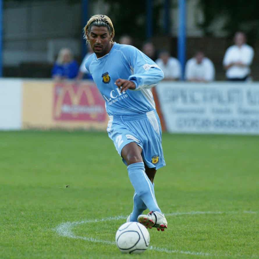 Ram Marwa in action for Grays Athletic during a friendly against Leyton Orient, for whom he also played, in August 2005