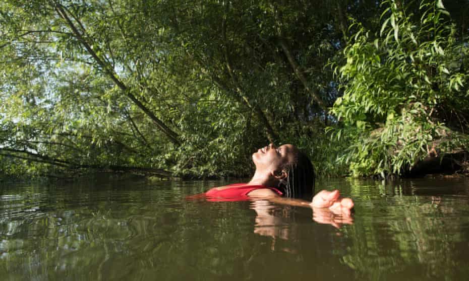 Rachel Edwards in Oxfordshire, in a tributary of the Thames.