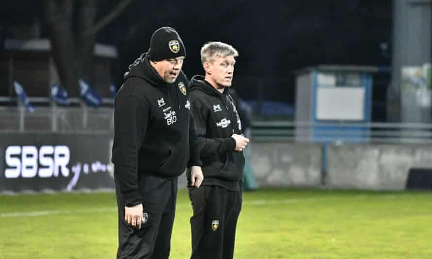La Rochelle coaches Jonno Gibbes and Ronan O'Gara (right). O'Gara could elevate the Champions Cup to the next level.
