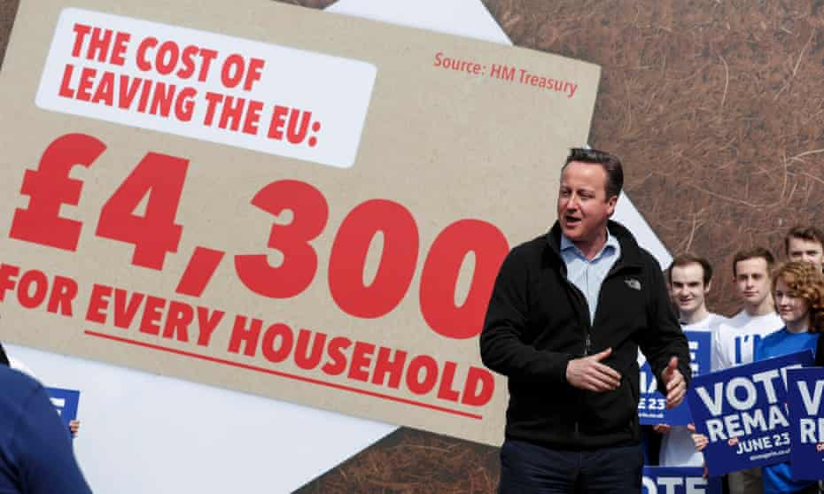 Prime Minister David Cameron delivers a speech at a Remain campaign event in his Witney constituency in Oxfordshire, where he warned that a vote to leave the European Union could tip the British economy back into recession.