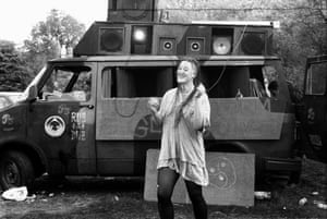 Free party on Wanstead Common, May 1994.