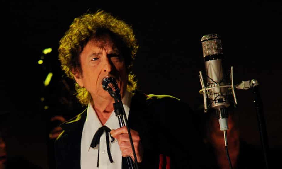 Bob Dylan performing in 2015.