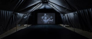 Arthur Jafa's screened installation Love is the Message, the Message is Death, 2016.