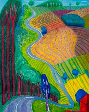 Detail from Going Up Garrowby Hill, 2000