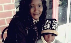 Samuel Kabamba and his mother, Véronique Nzazi.