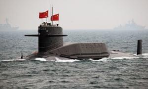 A Chinese navy submarine