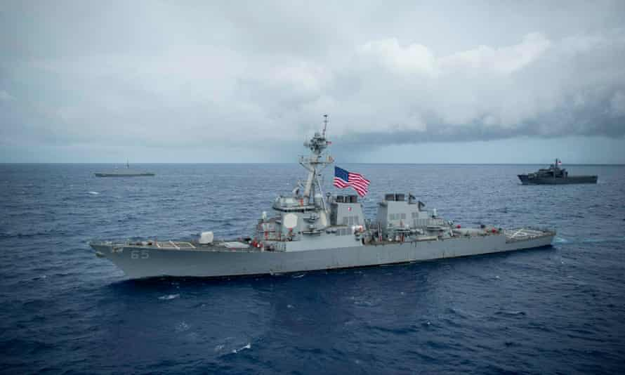 The USS Benfold was involved in a minor collision with a Japanese tugboat