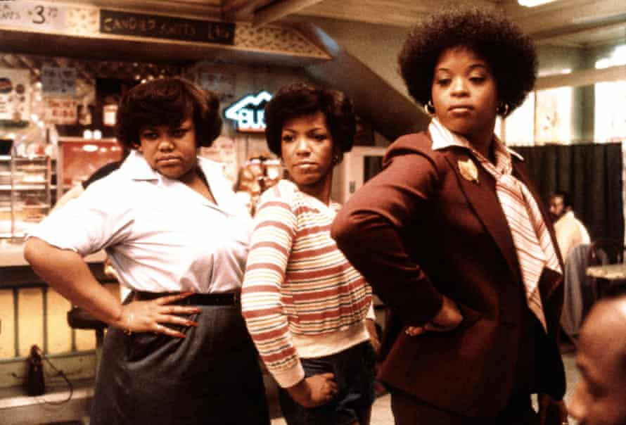 Carolyn (centre) as part of the Soul Food chorus in The Blues Brothers.