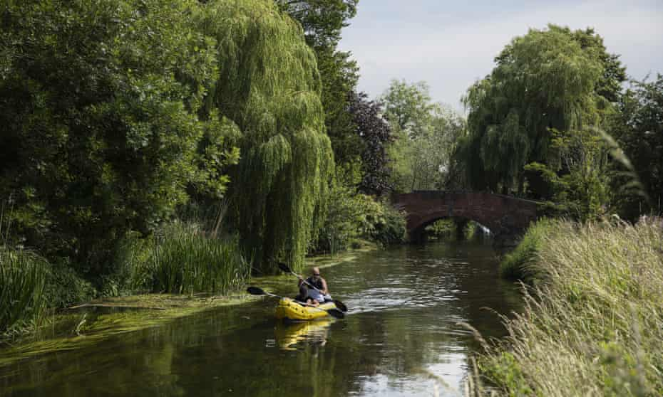 Kayakers on the River Stour at Fordwich this summer.