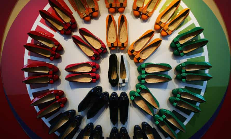 A display of Ferragamo shoes at the exhibition Salvatore Ferragamo: Evolving Legend 1928-2008 in Shanghai. From his death in 1960, the brand was led by Salvatore's widow, Wanda.