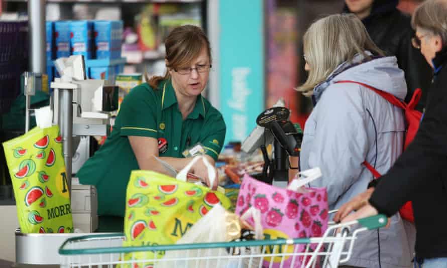 Till at a Morrisons supermarket