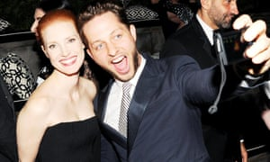 Jessica Chastain, (Wearing GIVENCHY) and Derek Blasberg 2013 Cfda Fashion Awards - Inside Supper, New York, USA - 03 Jun 2013