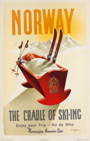 Norway / The cradle of skiing, 1955, by Knut Yran