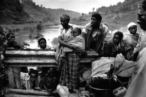 The border of Rwanda and Zaire, 1994