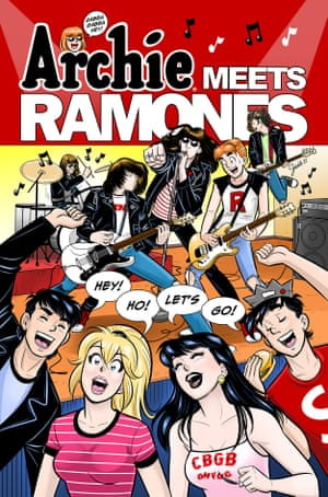 The cover of Archie Meets Ramones, Segura's new comic project.