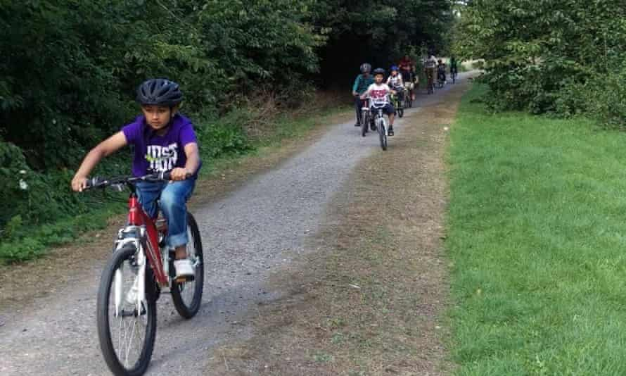 Children enjoying cycling lessons from Brothers on Bikes in Redbridge, London.