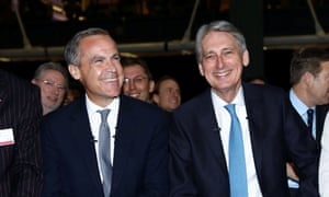 Mark Carney and Philip Hammond grinning broadly