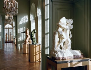 Light-filled spaces … a gallery at the Musée Rodin, complete with new parquet flooring.