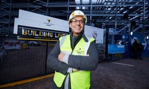 Former prisoner John Burton who runs Inside Connections, a project helping young offenders on day release from prison get trained by some of the UK's biggest construction companies.
