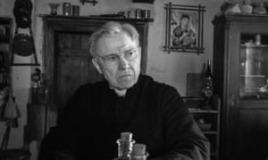 Harvey Keitel as a kindly, naive priest in The Painted Bird.