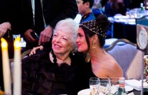 Thelma Schoonmaker and Salma Hayek