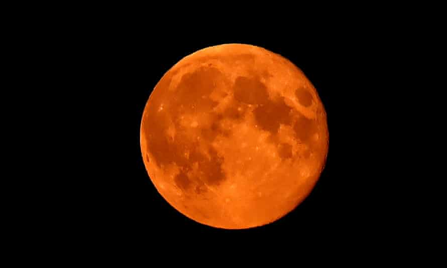 A supermoon is seen last year over north-east England.