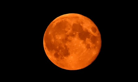 A supermoon over Whitley Bay in the North-East of England, captured on 9 September, 2014