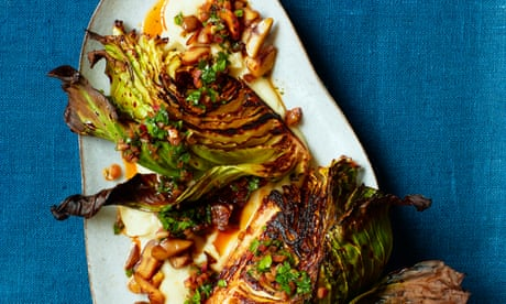 Thomasina Miers' recipe for charred cabbage with artichokes and chestuts